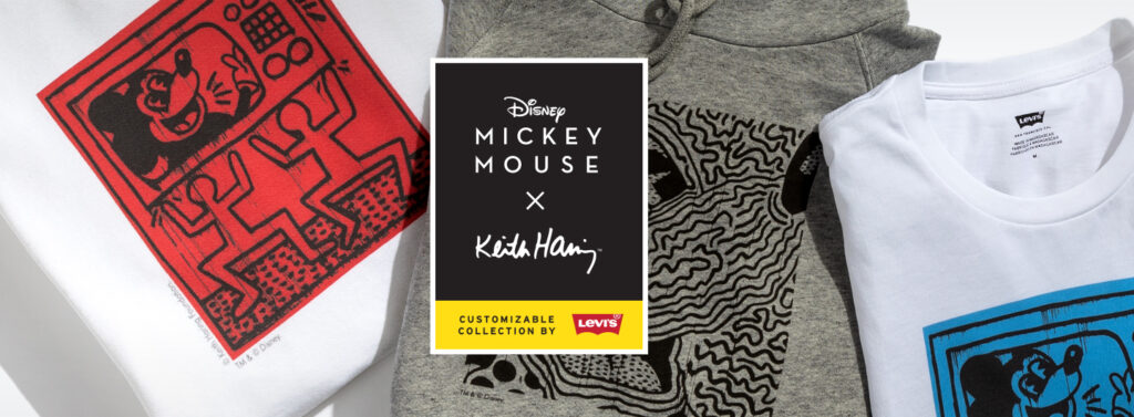 Have You Seen The New Levi's Disney Mickey Mouse X Keith Haring Collection? (Here's A Sneak Peek)